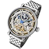 Rougois Dual Time Zone Skeleton Automatic Watch with Day/Night Dial RMAS, Watch Central