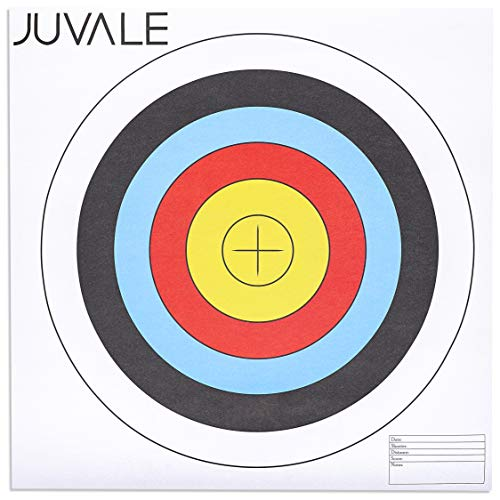 Juvale 30-Pack Paper Bullseye 5 Ring Shooting Targets for Archery and Gun Range, 17.5 Inches
