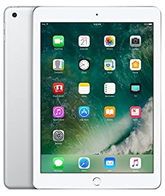 Apple iPad with WiFi, 32GB, Silver (2017 Model) (Refurbished)