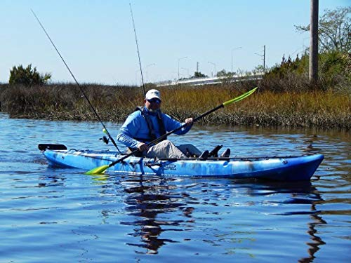 Eddy Gear Premium Fishing Kayak (13′ 4″) with Angler Kayaking Package from Rudder, Adjustable Rod Holder, Steering, Paddle, Seat (Stingray XL, Multiple Colors) (Blue) Review