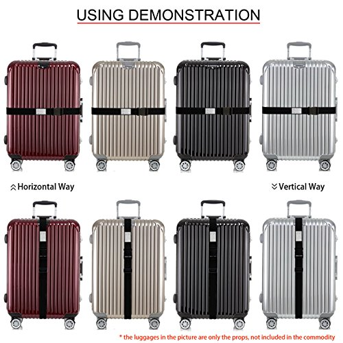 TRANVERS Luggage Strap For Suitcase Baggage Belt Travel Luggage Accessory 1-Pack Black