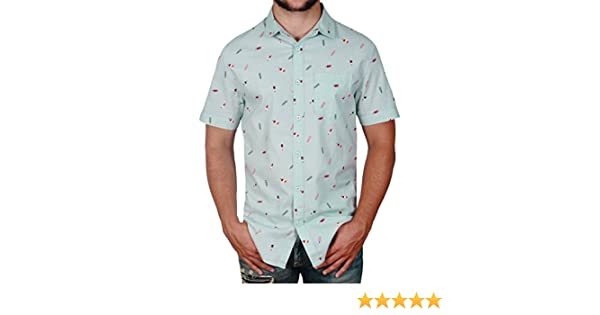 93c2235d Straight Faded Mens Short Sleeve Modern Fit Button Down Shirt at Amazon  Men's Clothing store:
