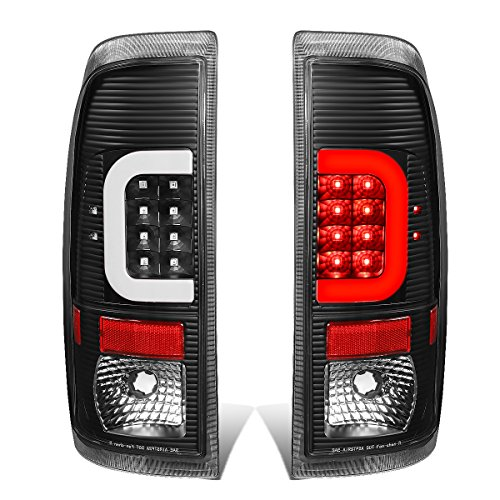 DNA MOTORING TL-F25008-LED-3D-BK-G2 Pair Black Housing Clear Lens 3D LED Tail Lights [08-16 Ford ()