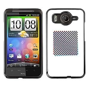 Shell-Star Art & Design plastique dur Coque de protection rigide pour Cas Case pour HTC Desire HD / G10 / inspire 4G( Raster Art Print Minimalist White )
