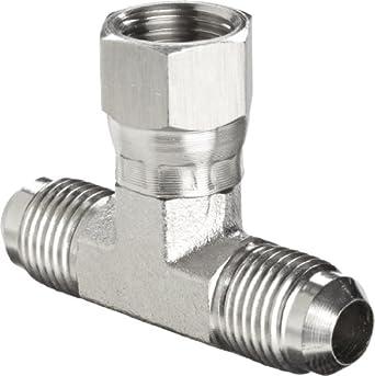 "Brennan 6600-06-06-06-SS, Stainless Steel JIC Tube Fitting, 06MJ-06MJ-06FJS Tee, 3/8"" Tube OD"