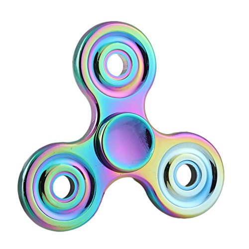 Xinyuanweiye Rainbow Spinner Fidget Toy 3D Ceramic Bearing EDC Focus Toy for Killing Time (C.Multicolor) HAND SPINNER