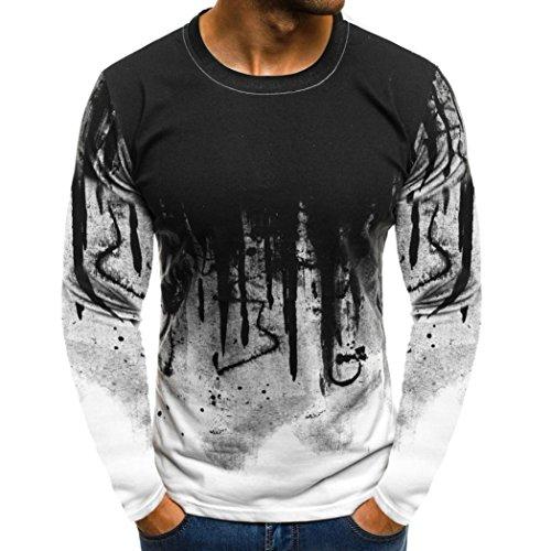 f0af5100f735a7 Sport T-Shirt Herren Sweatshirt Kanpola Slim Fit Langarm Shirt Bluse für Jogging  Yoga Männer Tops Freizeit Pullover Langarmshirts. Kanpola begrüßen alle.