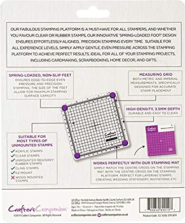 Crafters Companion 2 x Stamping Platform-4 x 4