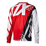 Fox Racing Men's Demo Long Sleeve Jersey Red/White (Large)