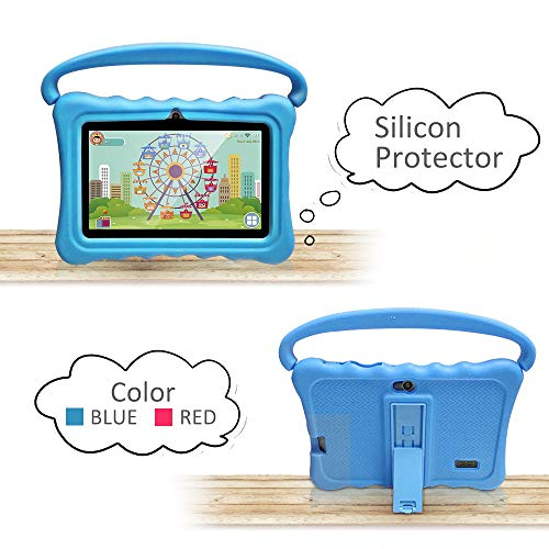 Tablet Case For Kids 7 Inch Kids Tablet Cases For Shock Proof Protective With Portable Convertible Handle Light Weight Blue