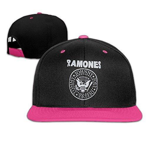 Metal Ramones (Nquqiyilu Men's Charcoal Classic Ramones Logo Casual Style Travel Pink Caps Hats Adjustable Snapback)