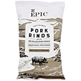 EPIC Sea Salt & Pepper Pork Rinds, Keto Consumer Friendly, 2.5oz