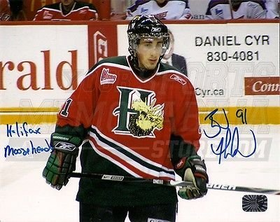 a472e94ca Brad Marchand Boston Bruins Signed Halifax Mooseheads Quebec Junior 8x10 -  Home  Amazon.ca  Sports   Outdoors