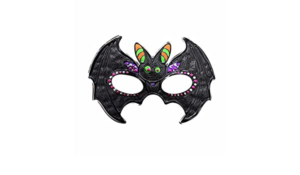 ... Cara dominó Frente Falso Halloween Maquillaje Fiesta de graduación máscara Masculina Fiesta niños máscara murciélago 1: Amazon.es: Deportes y aire libre