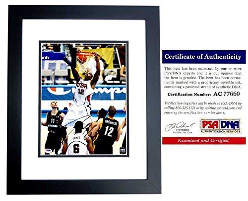 Dwight Howard Signed - Autographed TEAM USA 11x14 inch Photo BLACK CUSTOM FRAME - Atlanta Hawks - PSA/DNA Certificate of Authenticity (COA) ()