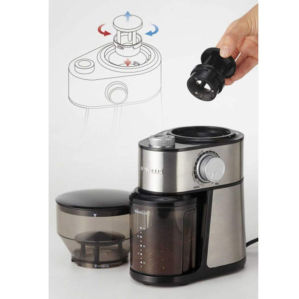 BEANPLUS BCG-200 Flat Burr Electric Coffee Grinder Coffee Bean Grinding Mill 220V by [BEANPLUSOEM] (Image #4)