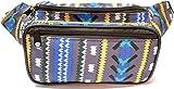 SoJourner Festival Fanny Pack - Aztec, Tribal Style (Gray / Blue)