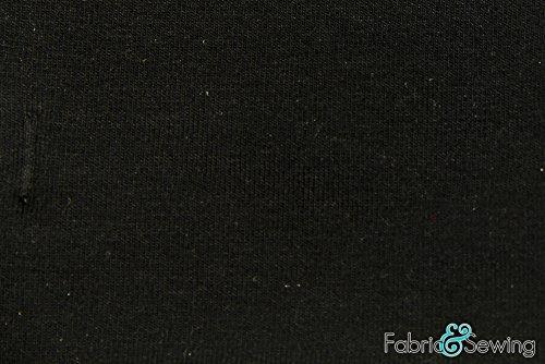 Black Sherpa Fleece - Plush Fabric Polyester Cotton 12 Oz 58-60