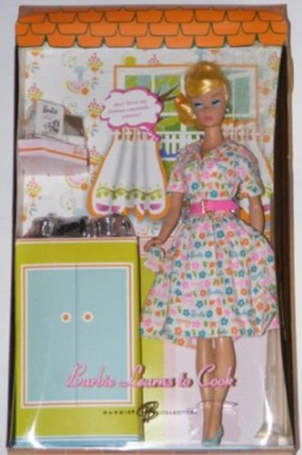 (Barbie LEARNS TO COOK Doll with Silver Tone Cookware GOLD LABEL Collectible Doll (2006))