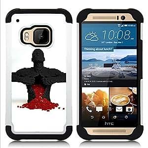- Full Of Love Heart/ H??brido 3in1 Deluxe Impreso duro Soft Alto Impacto caja de la armadura Defender - SHIMIN CAO - For HTC ONE M9