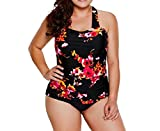 Kankanluck Women's Plus Size Underwire Print Swimsuit Bathing Suits As Picture S