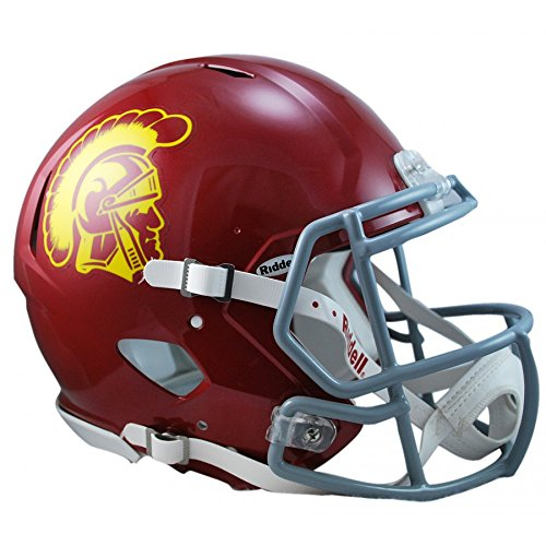 (Riddell NCAA USC Trojans Authentic Speed Full Size Football Helmet)