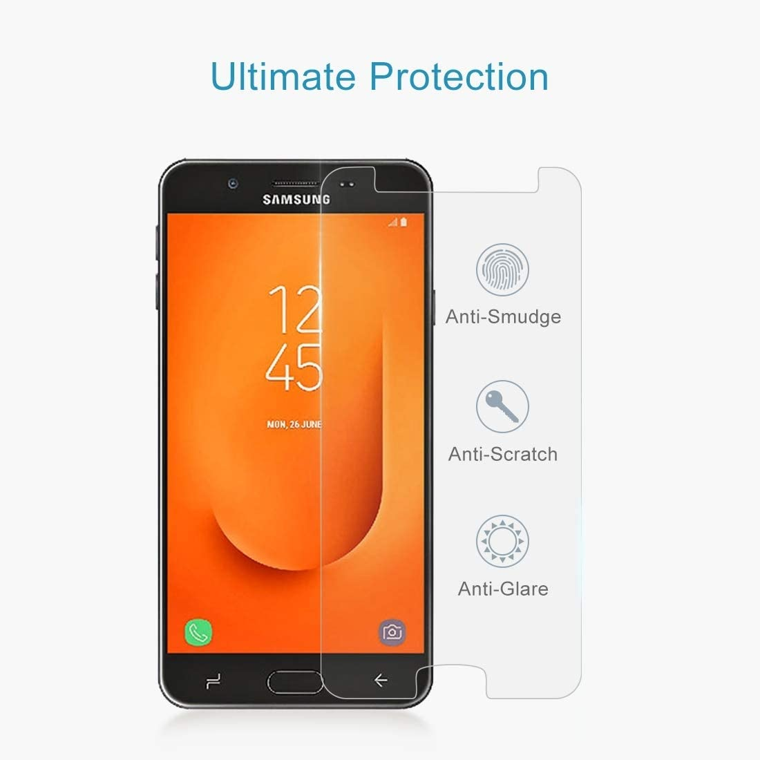 HUFAN 100PCS 9H 2.5D Tempered Glass Film for Galaxy J7 Prime 2 Phone Glass Film
