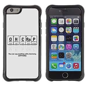 ZAKO Cases / Apple Iphone 6 PLUS 5.5 / Funny Nerd Chemistry Periodic / Robusto Prueba de choques Caso Billetera cubierta Shell Armor Funda Case Cover Slim Armor