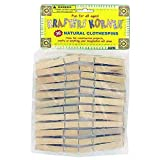 144 36 Pack natural wood craft clothespins
