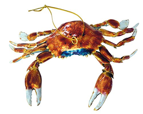 Cloisonne Christmas Tree - Cloisonne Articulated Crab Christmas Ornament
