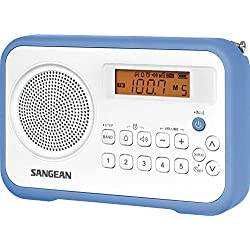 Sangean Digital Compact AM/FM Dual Alarm Clock Radio with Built-in Speaker & Large Easy to Read Backlit Display