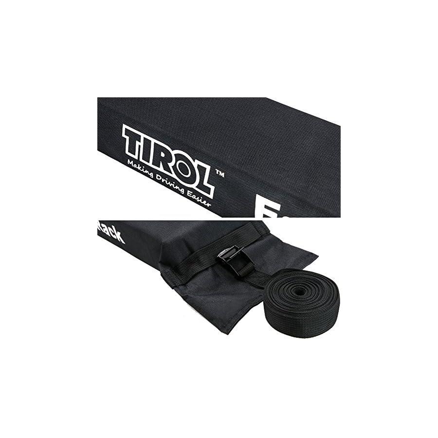 TIROL Universal Auto Soft Car Roof Rack Carrier Luggage Easy Rack(2 Piece)