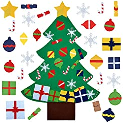 FunPa Felt Christmas Tree, 3.2ft DIY Chr...