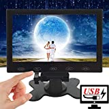 CAIRUTE 7 Inch Ultra-Thin High-Res 1024x600 HD Raspberry Pi 3 Monitor, AV/RCA/VGA/BNC/HDMI, Portable USB Power TFT LCD Computer for PC Laptop, CCTV Video Display Screen, Built in Speaker, Touch Button