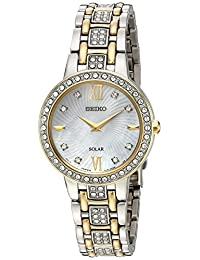 Seiko Women's 'Ladies Crystal Dress' Quartz Stainless Steel Casual Watch, Color:Two Tone (Model: SUP360)