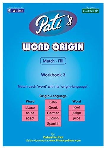 Word Origin 3 work book - MaRRS Spelling Bee help - practice