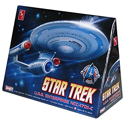 Round 2 AMT Star Trek Enterprise 1701-C 1:2500: Toys & Games