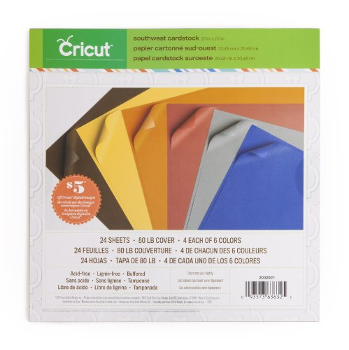 - Cricut 2002001 Textured Cardstock, 12-Inch by 12-Inch, Southwest