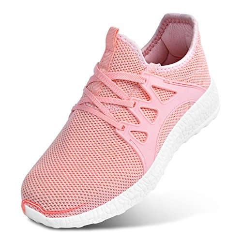 Athletic Pink Shoes Lightweight Sneakers Womens Mesh Tennis Gym Running Feetmat Walking Breathable Ultra pBzRn7Pqqw