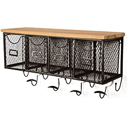 Linon 4-Basket Wall Organizer