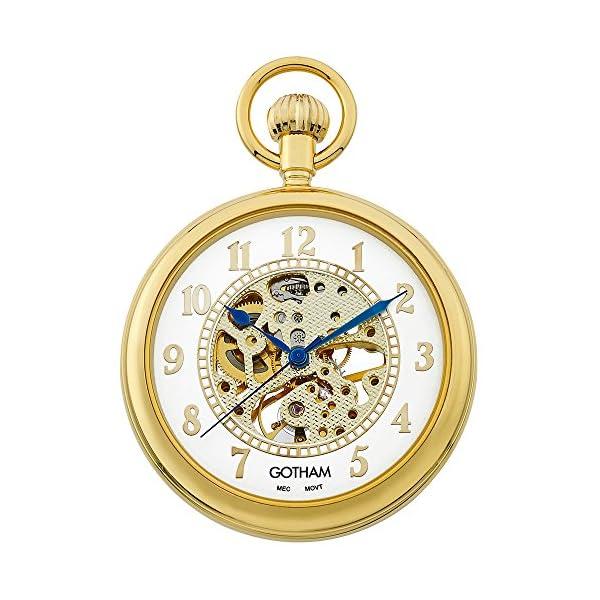 Gotham-Mens-Gold-Tone-Mechanical-Pocket-Watch-with-Desktop-Stand-GWC14034GA-ST
