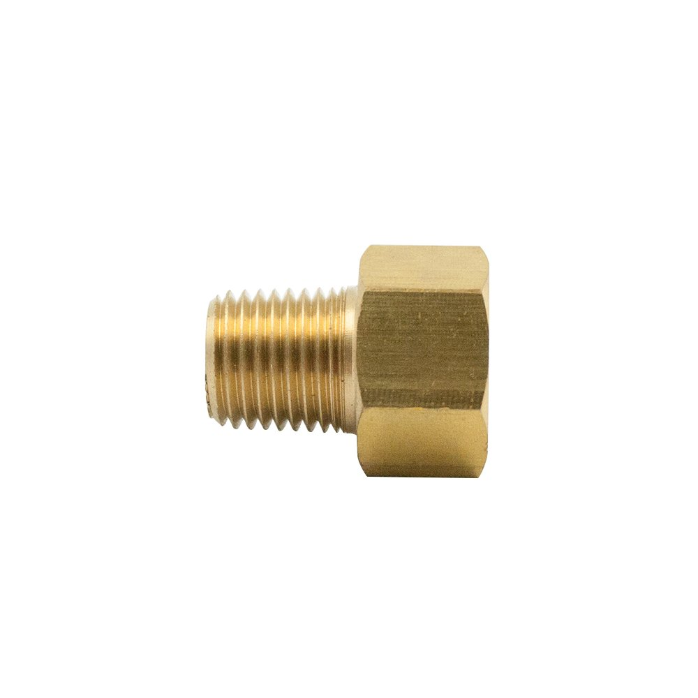 Adapter Vis Brass Inverted Flare Fitting Pack of 1 3//8 Tube OD x 1//8 NPT Male