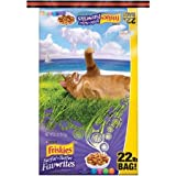 Purina Friskies 22 lb Bag Dry Cat Food, Surfin' & Turfin' Favorites, Best of Land & Sea Together in Appealing Shapes & Flavors, Including Chicken, Beef, Ocean Whitefish, Liver, Salmon & Seafood