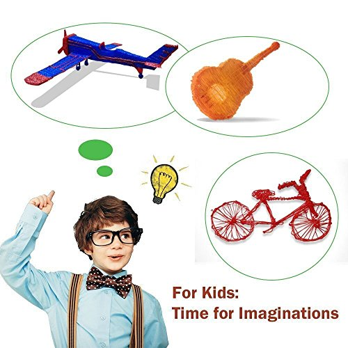 Ouguan Sending Gift Intelligent 3D Printing Pen, 3D Drawing Model Making Doodle Arts & Crafts Drawing, Stimulate childrens' creativity, improve spatial thinking ability. by Ouguan (Image #4)