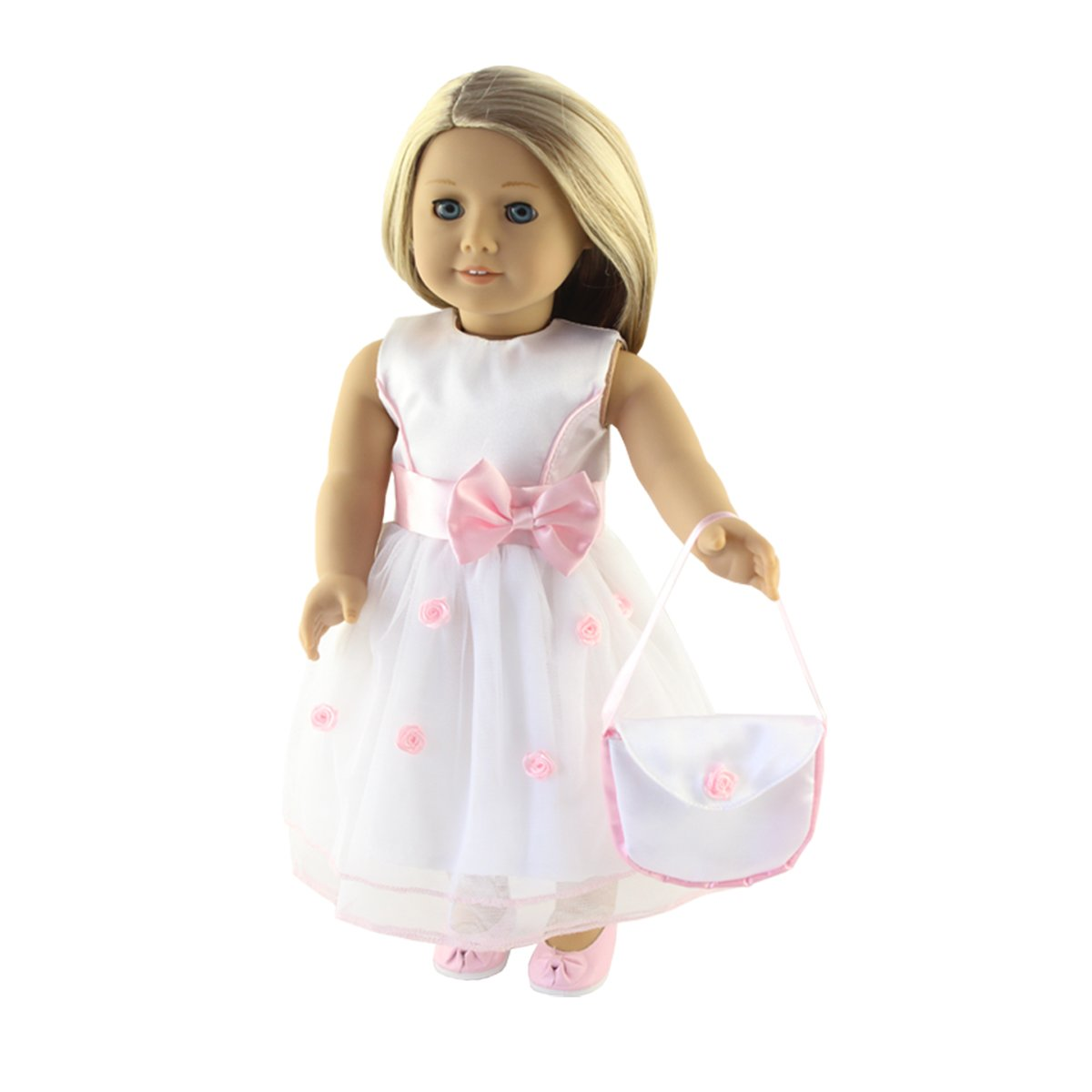 Modern Doll Furniture & Play Accs Silver Purse Bag for American Girl & Wellie Doll Clothes Accessory FREE PHONE!