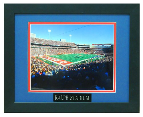 Ralph Wilson Stadium, Home of the Buffalo Bills. Professionally Matted an Framed 12x18 Photo to an 18x24 (Stadium Ralph Wilson)