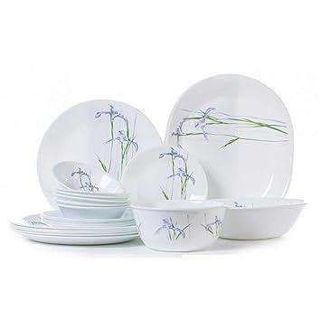 Corelle Shadow Iris Rd Dinner Set - 21 Pcs Dinnerware Sets at amazon