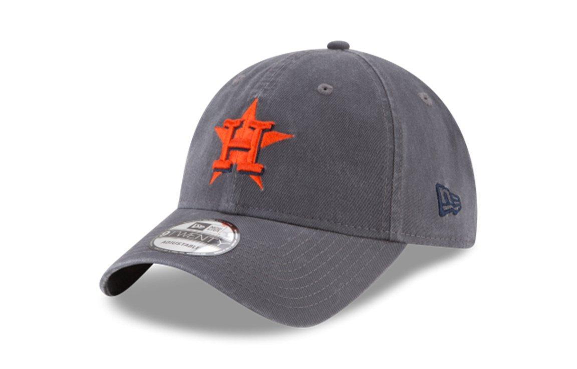 cheap for discount ea396 00cce Amazon.com   New Era 9Twenty Houston Astros Core Classic Strapback Hat  (Graphite) MLB Cap   Sports   Outdoors