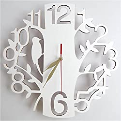 Quietness @ Modern Colorful Creative Silent Non-ticking Wall Clock Early bird with pests eat /8 inch/ -3030 custom