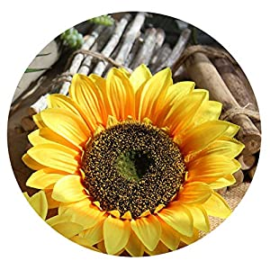 Memoirs- Simulation Sunflower Flower Head Wedding Bouquet Holiday Party Decoration Artificial Flower Plant Wall Ornament Birthday Gift,XXL 56